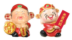 Gods of Prosperity Figurines Stock Photography