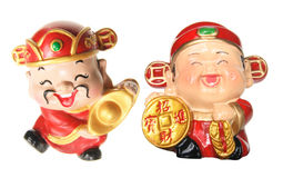 Gods of Prosperity Figurines Royalty Free Stock Images