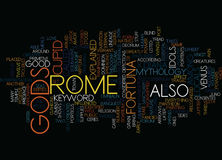Gods Of Rome Word Cloud Concept. Gods Of Rome Text Background Word Cloud Concept Royalty Free Stock Images