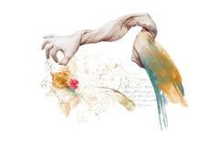 Gods` s Hand - gemaakte Verwezenlijkingen royalty-vrije illustratie