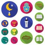Godsdienst en geloofs vlakke pictogrammen in vastgestelde inzameling voor ontwerp Toebehoren, illustratie van het de voorraadweb  vector illustratie