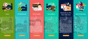 Godsdienst en van de Vieringen Verticaal Banner Concept stock illustratie