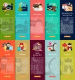 Godsdienst en van de Vieringen Verticaal Banner Concept royalty-vrije illustratie