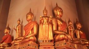 Godsdienst Gouden Buddhas-beeld Stock Fotografie