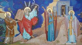 Godsdienst mozaïek Orthodoxe kerk in Kirowograd de Oekraïne stock afbeeldingen