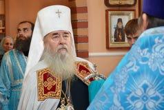 Godsdienst, priester. Mitropolit Dnepropetrovsk de Oekraïne Royalty-vrije Stock Afbeeldingen