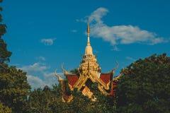 Godsdienst in Thailand Gouden Tempel van Boedha Place voor het Bidden Boeddhisme Godsdienstig symbool Reis royalty-vrije stock afbeelding