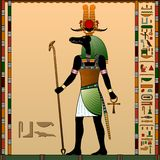 Godsdienst van Oud Egypte stock illustratie