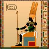Godsdienst van Oud Egypte royalty-vrije illustratie