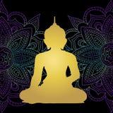 Godsdienstboeddhisme Oude cultuur meditatie Mooie achtergrond van het mandlaneon Stock Foto's