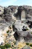 Godsdienstig beeldhouwwerk in Portugese rotsen Royalty-vrije Stock Foto's