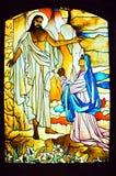 Godsdienstig Gebrandschilderd glas Stock Foto's