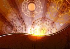Godsdienstig ontwerp als achtergrond voor diwalifestival Stock Foto