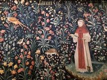 Godsdienstig tapijtwerk in Hospices de Beaune Beaune - Frankrijk stock fotografie