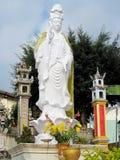 Godsdienstig vrouwen marmeren standbeeld Stock Foto's