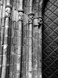Godsdienstige architectuur Artistiek kijk in zwart-wit Stock Foto