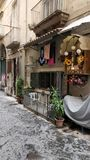 Godsdienstige backstreets van Napoli royalty-vrije stock afbeeldingen