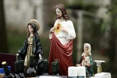 Godsdienstige beeldjes   Stock Afbeeldingen