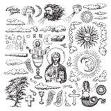 Godsdienstige en geestelijke illustraties vector illustratie