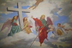 Godsdienstige fresko Stock Afbeelding