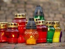 Godsdienstige kaarsen Royalty-vrije Stock Afbeelding