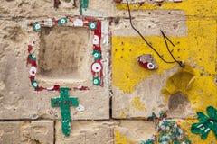 Godsdienstige muur Royalty-vrije Stock Foto's
