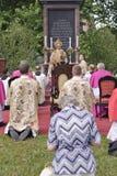 GODSDIENSTIGE OPTOCHT BIJ DE DAG VAN CORPUS CHRISTI Stock Foto