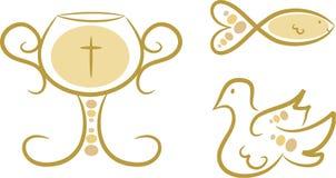 Godsdienstige Symbolen, Vastgestelde I Royalty-vrije Stock Foto