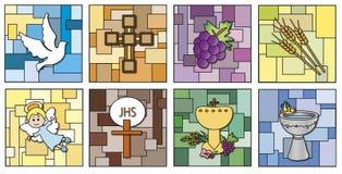Godsdienstpictogrammen Stock Afbeelding