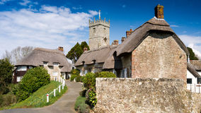 Godshill, Isle of Wight, England, a classic English village. A classic English Village on the Isle of Wight, England Royalty Free Stock Images