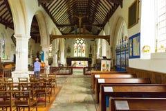 Godshill village church Isle of Wight Stock Image