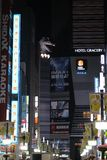 Godzilla на крыше Стоковые Фото