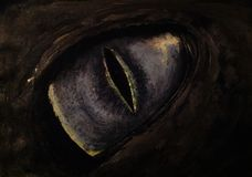 Godzilla. Painting reptillian eye royalty free stock photos