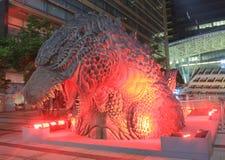 Godzilla Roppongi Tokyo arkivbilder