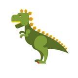 Godzilla scary toothy Monster. Green aggressive Dinosaur destroy Stock Photos
