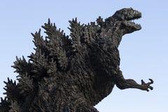 Godzilla statua w Hibiya fotografia royalty free