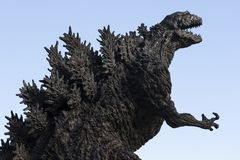 Godzilla statue in Hibiya royalty free stock photography