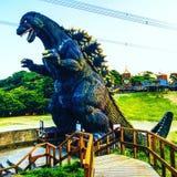 Godzilla statue stock photos