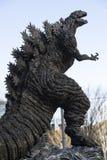 Godzilla staty i Hibiya royaltyfri foto