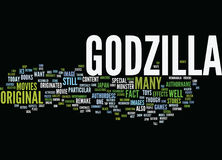 Godzilla Text Background  Word Cloud Concept Stock Photography