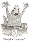 Godzilla waves Stock Photography