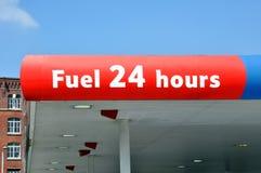25 godzin paliwa stacja Fotografia Stock