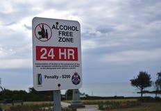 24 godzina alkoholu wolnej strefy obrazy royalty free