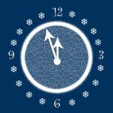 godzina s nowych rok ilustracja wektor