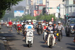 Godzina szczytu w Ho Chi Minh mieście Fotografia Royalty Free