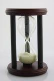 godzina szklany biel Fotografia Stock