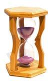 godzina szklany biel zdjęcia royalty free