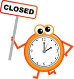 godzina zamknięcia royalty ilustracja