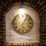 Godzina zegarowego czasu stary zegarowy szczegół Fotografia Stock