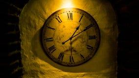 Godzina zegarowego czasu szczegółu stary zegarowy czas jest pieniądze Obraz Royalty Free
